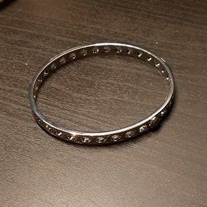 Signature COACH Bangle Bracelet (Silver)